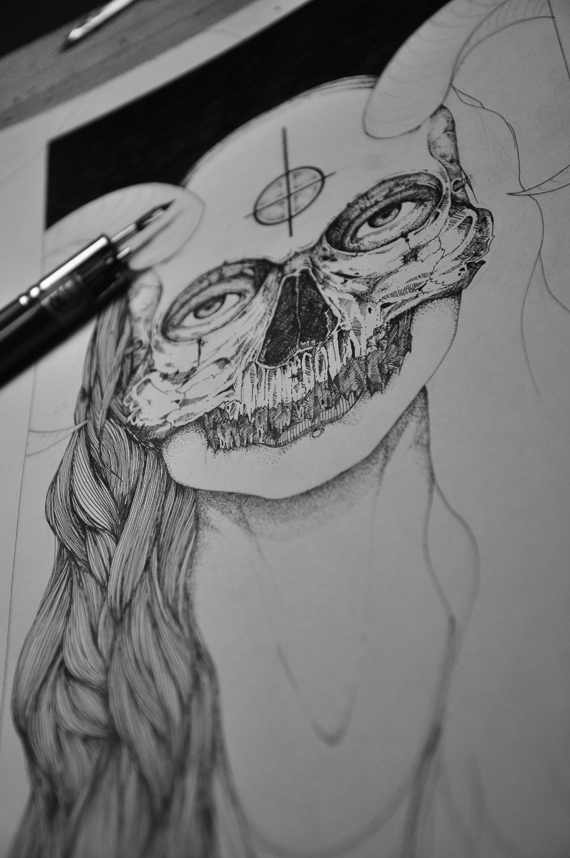 behind mask- In process